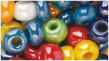 Glitterperlen Mix 7mm 50g Perlenmix Perlenkette Rocailles Perlen Glitzerperlen