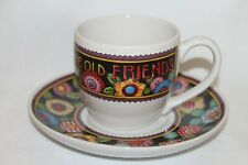 New! Nib! Mary Engelbreit Best Antiques Are Old Friends Tea Cup and Saucer Set