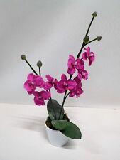 Orchidee Kunstpflanze Seidenblume 2 Rispen pink 50 cm 2060734 getopft F73