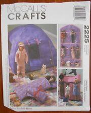 "Ff McCall's Pattern #2225 Barbie Fashion Doll 11 1/2"" Organizers /Storage &Tent"