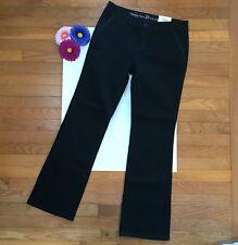 "Simply Vera Vera Wang Women's Jeans Size 10 Bootcut Trouser Black 32"" Inseam NEW"