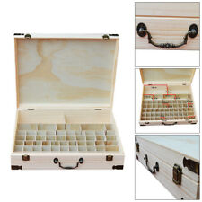 60 Slot Essential Oil Storage Box Wooden Aromatherapy Case Container Organizer