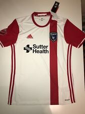 SAN JOSE EARTHQUAKES 17 / Large Adidas Away Soccer Jersey MLS