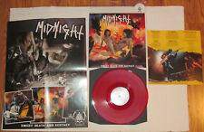 MIDNIGHT-SWEET DEATH AND ECSTASY-HELLS LP 186-NUDE POSTER-RED VINYL-INSERT-LP