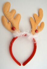 NEW Light brown reindeer antlers on aliceband fancy dress Christmas Celebrations
