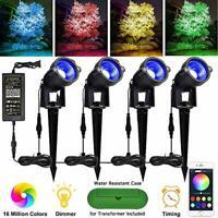 Color Changing Bluetooth  APP Landscape lighting 24 volt 48 watts. Timer Music