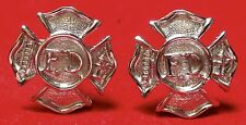 """Vintage FIRE DEPARTMENT CUFF LINKS - Ladder & Extinguisher - 1"""" by 1"""" -Beautiful"""