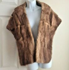 Vintage Outlet Co. Providence 1950s Mink Fur Stole Shoulder Wrap Cape Bolero Usa