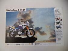 advertising Pubblicità 1989 MOTO YAMAHA XTZ 750 SUPERTENERE' SUPER TENERE'