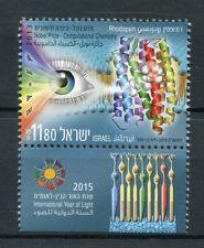 Israel 2015 MNH Intl Year of Light UNESCO Rhodopsin Nobel Prize 1v Set Stamps
