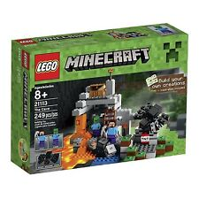 LEGO Minecraft The Cave 21113 Playset Minifigures Steve Zombie Spider Gift Toy
