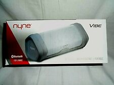 "Nyne Vibe Portable Wireless Water Resistant Speaker Gray) ""NEW"""