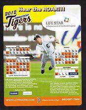 2012 Connecticut Tigers Magnet Schedule