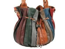 ECHT NAPPA LEDER Tasche ital. XL Damen Handtasche Shopper Cognac Bunt NL953CBD