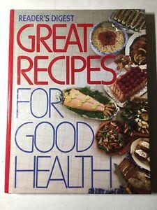 Reader's Digest Great Recipes For Good Health 1988 Vintage