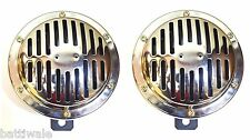 NEW CHROME HORN12V,125MM for scooter, Motorcycle,All Two Wheeler Vehicle type