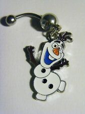 Frozen Wiggle Olaf  14 Gauge Surgical Steel Banana Ring Belly Navel