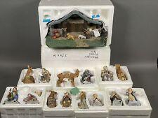 18-Piece Thomas Kinkade Nativity Set Hawthorne Village