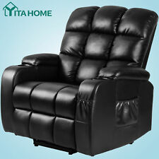 Yitahome Massage Recliner Chair Single Sofa Pu Leather Padded Seat Home Seatin 00006000 g