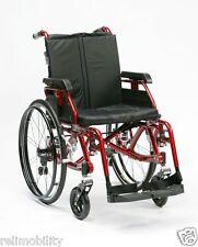 Enigma K Chair - Full Suspension Lightweight Aluminium Wheelchair - Red