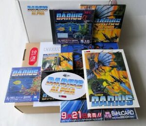 NEC PC Engine SGX HuCard Darius Alpha PCE WORKS Limited Super Rare IN HAND SHIPS