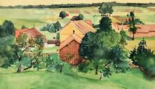 Reinhold Pallas 1901-1970 Nürnberg München / Aquarell Landschaft im Chiemgau
