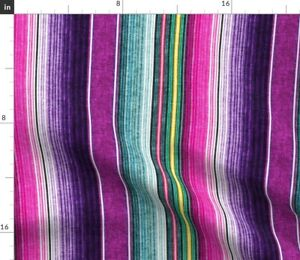 Small Scale Southwest Stripes Purple Trendy Spoonflower Fabric by the Yard