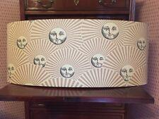 Fornasetti grande applique a muro paralume lampshade sole e ventaglio. cm 39x90