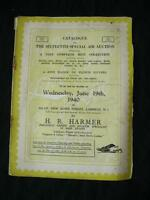 H R HARMER AUCTION CATALOGUE 1940 with BOLIVIA ERRORS SPECIAL AIR AUCTION ETC
