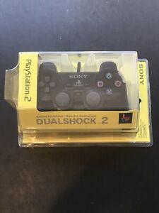NEW Official OEM Black Playstation 2 PS2 Dualshock 2 Analog Controller - SEALED