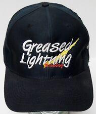 GREASED LIGHTNING RACING MULTIPURPOSE CLEANER Advertising Black SNAPBACK HAT CAP