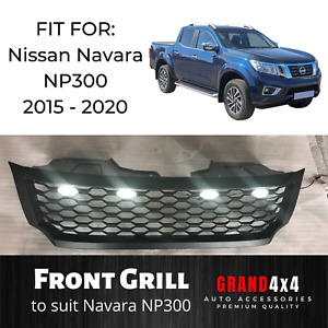 LED GRILL for Nissan Navara NP300 2015 - 2020 Ute Black Aftermarket Grille Light
