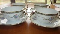 Noritake Laureate Cup and saucer set service for 4 4 cups 4 saucers EUC
