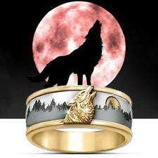 Ring Wolf Viking Silver Gold Plated Fashion Man Woman Jewel Celt