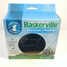 Baskerville Ultra Muzzle Adjustable Deluxe Dog Muzzle Black Size 5 - New - Large