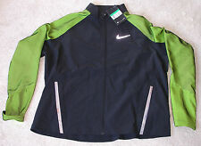 Nike Twill Running Laufjacke Damen Gr. L Neu m. Etikett black/green atmungsaktiv