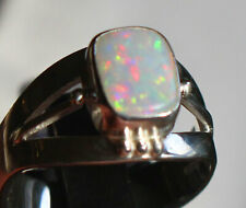 Multicolor Opal 1.7 Karat 950er Silberring Größe 18,4 mm