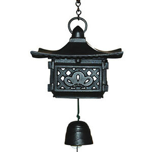 Japanese Furin Wind Chimes Cast Iron Pagoda With Bell/New in Box/Made in Japan