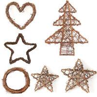 Christmas Rattan Tree Star Ring Wreath Garland DIY Wedding Party Ornament