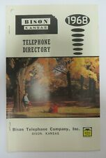 Vintage 1968 BISON, KANSAS Telephone Directory Phone Book Yellow Pages
