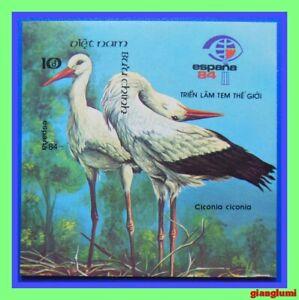 Vietnam Imperf S/S White storks MNH