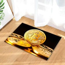 Crypto currency Gold Bitcoin Kitchen Bath Bathroom Shower Floor Home Door Mat