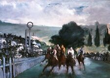 IMPRESSIONISMUS Edouard Manet PFERDERENNEN IN LONGCHAMPS GALOPPER PACE  FAKS 58