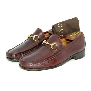 Mens Gucci Horsebit Loafers 1100009 Shoes With Bag Brown UK 7.5 US 8 Eu 41.5