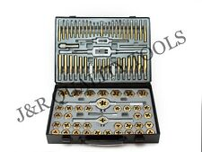 86 PC PIECE TUNGSTEN STEEL MM & SAE SIZE INCH STEEL TAP & AND DIE TOOL SET KIT