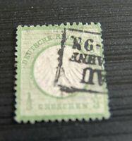 BM116 Deutsches Reich Brustschild Mi-Nr.: 2 (1872) gestempelt Kastenstempel Bhf