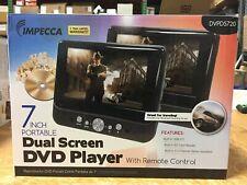 Impecca 7-Inch Dual Screen Portable Car Auto DVD CD Player USB + Remote DVPDS720
