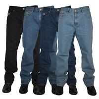 "MENS BIG SIZE BASIC SHORT LEG FORGE JEANS HEAVY DUTY CASUAL WORKWEAR INSIDE 30"""