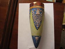 Japan pre WWII? lustreware wall pocket triple leaf mark, phoenix