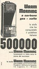 W8861 Stufe WARM MORNING - Pubblicità del 1958 - Vintage advertising